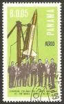 Stamps : America : Panama :  Científicos Italianos, con el cohete portador de San Marcos