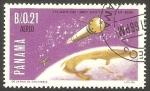 Stamps : America : Panama :  Cohete Shotput y Satélite San Marco