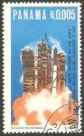 Stamps : America : Panama :  Lanzamiento de cohete portador de San Marcos