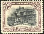 Sellos del Mundo : America : Guatemala : Cuartel de artillería.  UPU 1902.