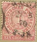 Stamps Europe - Germany -  NORDDEUTSCHER POSTBEZIRK