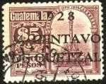 Sellos de America - Guatemala -  Monumento de García Granados.  UPU 1926.