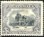 Sellos del Mundo : America : Guatemala : Palacio de la Reforma.  UPU 1902.