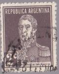 Stamps Argentina -  Republica Argentina - Gral Jose de San Martin