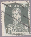 Stamps America - Argentina -  Republica Argentina - Gral Jose de San Martin