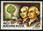 Stamps Hungary -  Hermanos Montgolfier