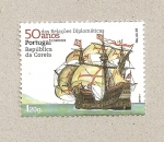 Stamps Portugal -  50 aniv. Relaciones Diplomáticas con Corea