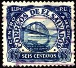 Sellos del Mundo : America : El_Salvador : Puente sobre el río Lempa. UPU 1924.