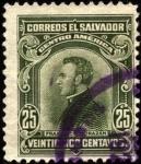 Sellos del Mundo : America : El_Salvador : Francisco Morazán. 1921.