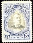 Stamps America - El Salvador -  Presidente Pedro José Escalón. UPU 1906.