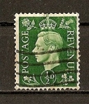 Stamps : Europe : United_Kingdom :  Jorge VI / Fondo Oscuro.