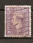 Stamps : Europe : United_Kingdom :  Jorge VI / Fondo Claro.