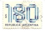 Stamps : America : Argentina :  colores de la Bandera