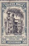 Sellos de America - Costa Rica -  Banano - Feria Nacional Agricola, Ganadera e Industrial Cargago 1950
