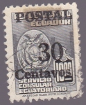 Stamps of the world : Ecuador :  Postal Ecuador - Servicio Consular Ecuatoriano