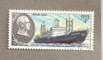 Stamps Russia -  Buque Otto Schmidt