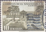 Stamps of the world : El Salvador :  Plaza General Barrios Palacio Nacional  Correos de El Salvador C.A. - Aereo