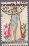Stamps Colombia -  Luz Marina Zuluaga - Miss Universo 1959