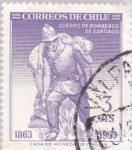 Stamps Chile -  Cuerpo de bomberos de chile 1863-1963  - Correos de Chile