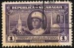 Stamps America - Nicaragua -  Conmemorativo visita  presidente Somoza a los EEUU.