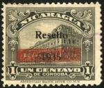 Sellos de America - Nicaragua -  Palacio Nacional de Managua.  1914  resello 1935