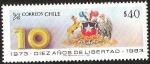 Sellos de America - Chile -  DIEZ AÑOS DE LIBERTAD