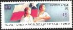 Stamps Chile -  DIEZ AÑOS DE LIBERTAD