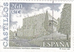 Stamps Spain -  castillo de montesquiu-Montesquiu (Barcelona)   (B)