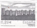 Stamps Spain -  castillo de Baños de le Encina (Jaén)    (B)
