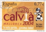 Stamps Spain -  Olimpiada de ajedrez Mallorca 2004    (B)