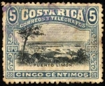 Stamps America - Costa Rica -  Puerto Limón. UPU 1900.