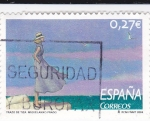 Stamps Spain -  Trazo de tiza Miguelanxo Prado   (B)
