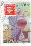 Stamps Spain -  vinos con denominación de origen -Rioja   (B)