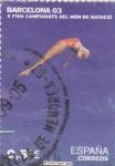 Stamps Spain -  Barcelona 03  x fina Campionats del món de natació    (B)