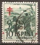 Sellos de Europa - España -  Pro tuberculosos- Niños en la playa.