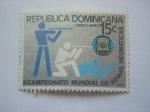 Sellos de America - Rep Dominicana -  campeonato mundial de armas neumaticas