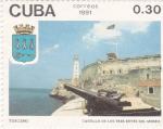 Stamps Cuba -  Castillo de los Tres Reyes del Morro