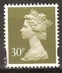 Sellos del Mundo : Europa : Reino_Unido : La Reina Isabel II.