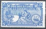 Stamps : Europe : Spain :  Sello pro-huerfanos de la Guardia Civil.