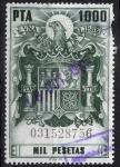 Stamps : Europe : Spain :  Póliza  Aguila con escudo de España con corona.