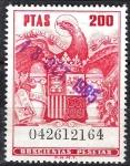 Stamps : Europe : Spain :  Póliza  Aguila, Alas entreabiertas.