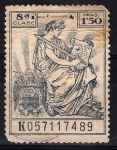 Stamps : Europe : Spain :  Póliza  Código civil.  8ª clase