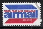 Stamps : America : United_States :  Etiqueta de correo aereo. AIRMAIL.