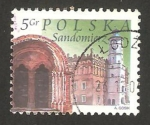 Stamps : Europe : Poland :  3842 - Edificio de la ciudad de Sandomierz