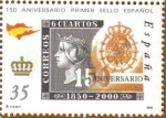 Stamps Europe - Spain -  150 Aniver. Primer Sello ESCUDO