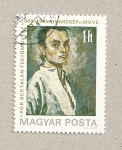 Sellos de Europa - Hungría -  Autoretrato de B. Por, pintor