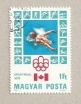 Stamps Hungary -  olimpiada Montreal, natación