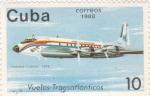 Sellos de America - Cuba -  Vuelos Transatlánticos