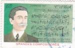 Sellos de America - Cuba -  compositor-Ignacio Cervantes