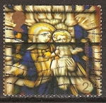 Sellos del Mundo : Europa : Reino_Unido : Virgen y el Niño ventana del vitral, la catedral de San Edmundsbury.